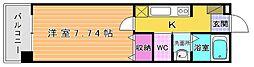 Live Flat 藤松(リブフラット藤松)[205号室]の間取り