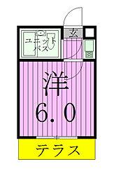 千葉県松戸市樋野口の賃貸アパートの間取り