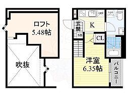 南海線 堺駅 徒歩9分の賃貸アパート 1階1Kの間取り