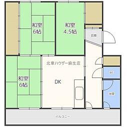 ビレッジハウス新川 7号棟[2階]の間取り