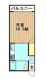 都マンション[5階]の間取り