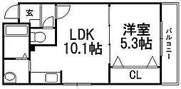 北海道札幌市中央区南六条西14丁目の賃貸マンションの間取り