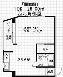 高野ビル[5階]の間取り