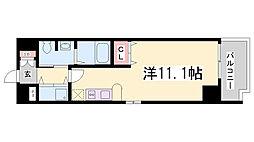 カスタリア三宮[1008号室]の間取り