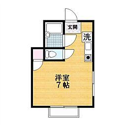 スターブライトマンション[1階]の間取り
