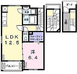 メゾン・ド・カレ(メゾンドカレ)[3階]の間取り
