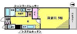 フェリーチェ古川橋[4階]の間取り