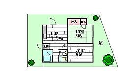 西泉ヶ丘ハイツ[1階]の間取り