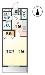コーポ花館[2階]の間取り