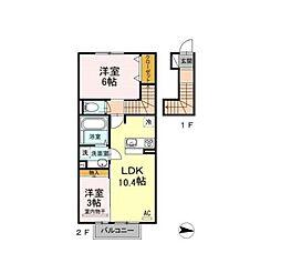D-room泉台A棟[2階]の間取り