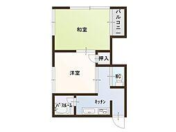 山田ハイツ[3号室]の間取り