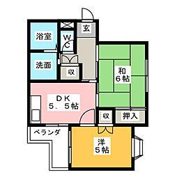 松栄マンション野並[3階]の間取り