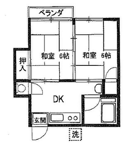 コーポ北広野[206号室]の外観