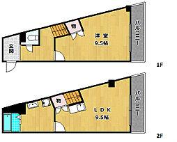 モンシャトー百済坂 6階1LDKの間取り