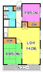 セゾンコート1-9[3階]の間取り