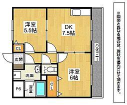アネックス[3階]の間取り