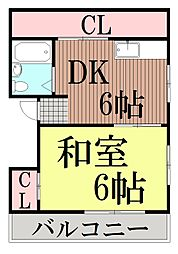 東京都大田区東馬込1丁目の賃貸マンションの間取り