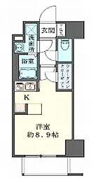 CASA EST CORTA(カーサエストコルタ) 3階ワンルームの間取り