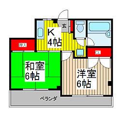 キャッスル[1階]の間取り