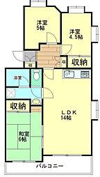 カデンタ湘南[2階]の間取り