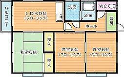 コンフォートヒサノ[201号室]の間取り