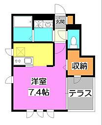 レグラス立野II[1階]の間取り