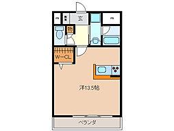 三重県四日市市金場町の賃貸マンションの間取り