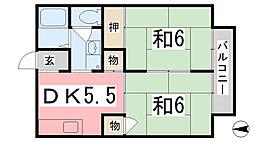 メゾンT2 B棟[102号室]の間取り