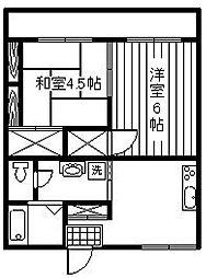 ヒダカハイツ21[106号室]の間取り