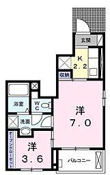 引野町五丁目アパート[1階]の間取り