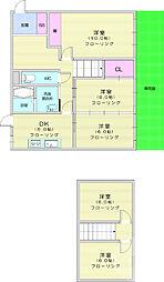 仙台市地下鉄東西線 八木山動物公園駅 5.3kmの賃貸一戸建て 1階5DKの間取り