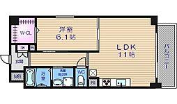 アベニール四天王寺[203号室]の間取り