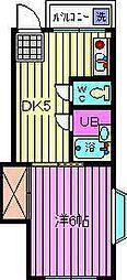 武蔵屋四番館[2階]の間取り