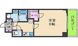レジデンス大阪城東アペリオ 3階1Kの間取り