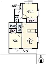 コージーコート薫[2階]の間取り