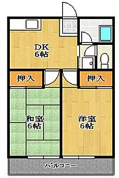 千葉県船橋市西船1丁目の賃貸アパートの間取り