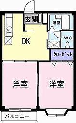 シティプラザ亀井[0203号室]の間取り