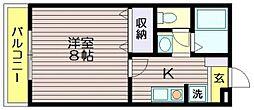 東京都三鷹市新川2の賃貸アパートの間取り
