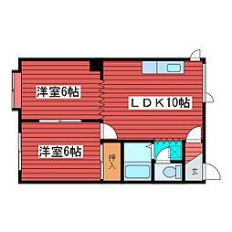 北海道札幌市豊平区西岡五条3丁目の賃貸アパートの間取り