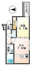 兵庫県尼崎市西本町2丁目の賃貸アパートの間取り