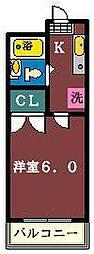 ジュネパレス津田沼第17[312号室]の間取り