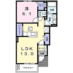 南海線 鳥取ノ荘駅 徒歩5分の賃貸アパート 1階1LDKの間取り