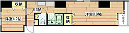 広島県広島市南区宇品海岸1丁目の賃貸マンションの間取り
