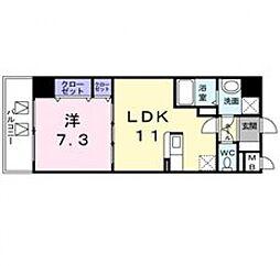 メゾンフロールイマクボ[3階]の間取り
