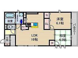 D-room新庄町[3階]の間取り