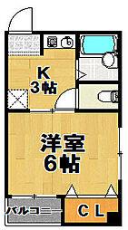 カンカワマンション[2階]の間取り
