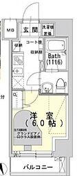 サウンドプルーフ蒲田イースト bt[802kk号室]の間取り