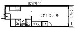 万代ミユキマンション[2階]の間取り