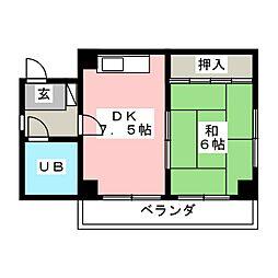 タキマツ第1マンション[3階]の間取り