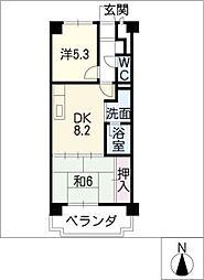 エステート鳴海[5階]の間取り